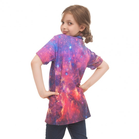 Purple Nebula t-shirt for kids Thumbnail 1