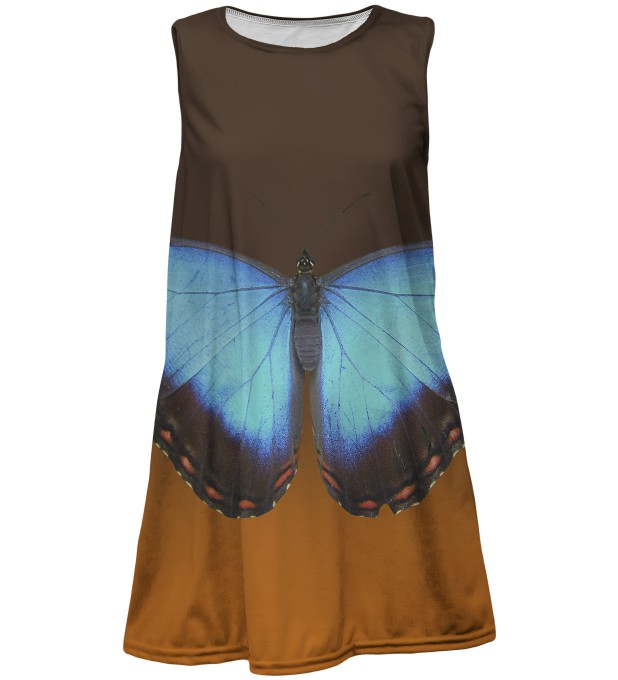 Blue Butterfly dress for kids Thumbnail 1
