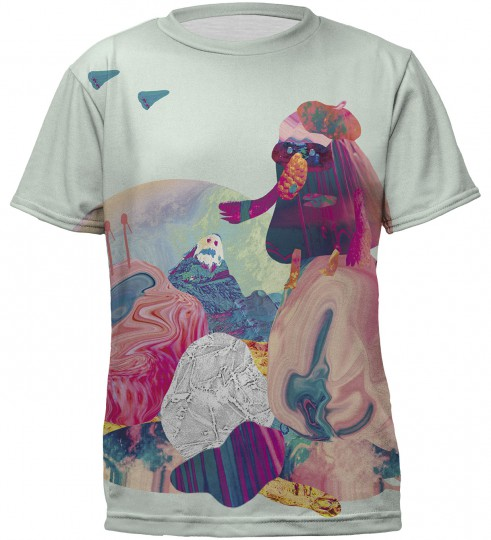 Monkey collage t-shirt for kids Thumbnail 1