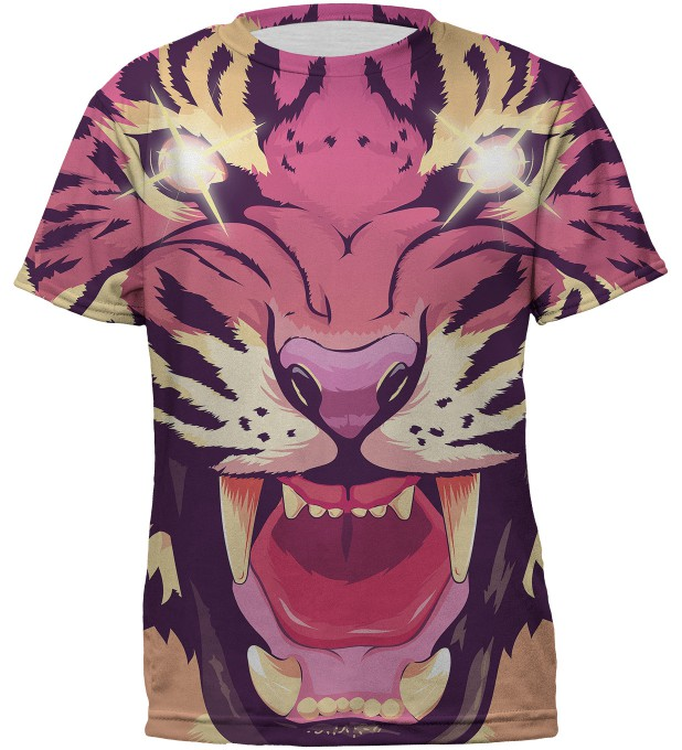 Comic tiger t-shirt for kids Thumbnail 1
