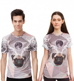 Mr. Gugu & Miss Go, Raindeer t-shirt Thumbnail $i