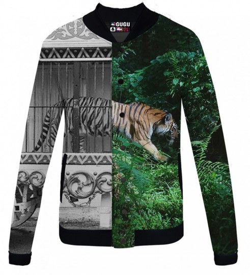 Tiger Cage baseball jacket Thumbnail 1