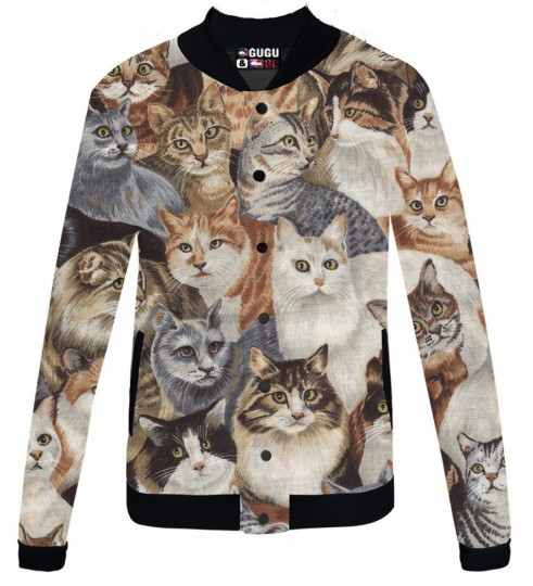 Cats veste de baseball Miniature 1