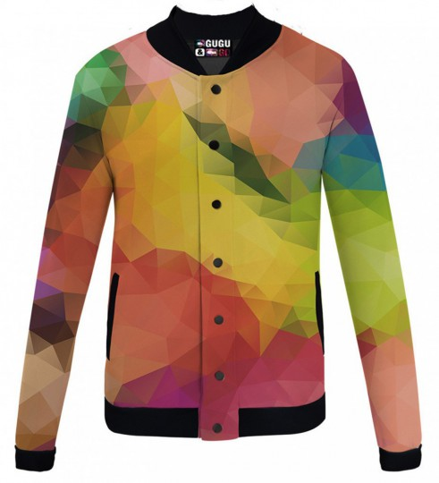 Colorful geometric veste de baseball Miniature 1