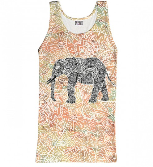 Indian Elephant tank-top Miniature 1