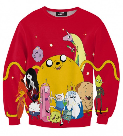 Adventure Time red sweater Thumbnail 1