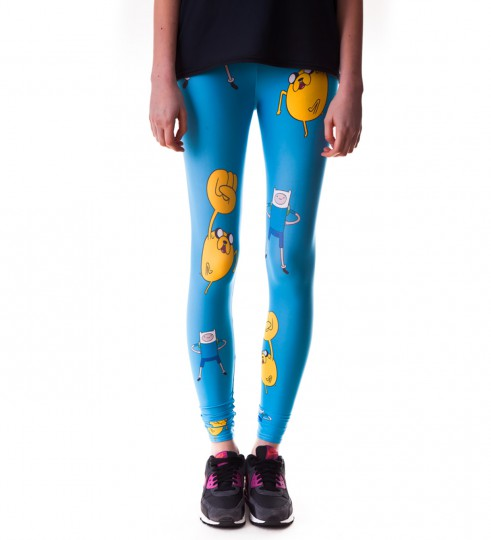Blue Adventure Time leggings Miniature 2
