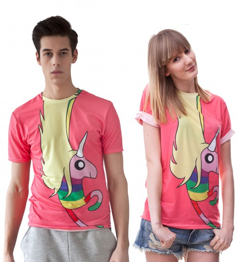 Lady Rainicorn pink t-shirt Thumbnail 2