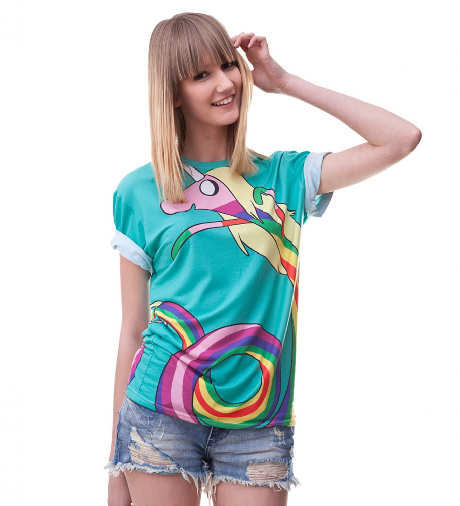Mr. Gugu & Miss Go, Lady Rainicorn Turquoise t-shirt Image $i