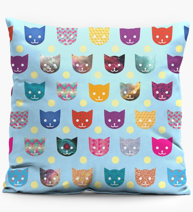 Funny cats pillow Miniature 1