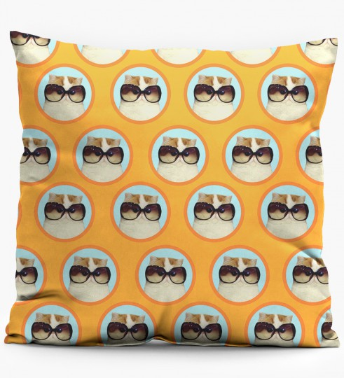 fabulous cat pillow Miniature 1