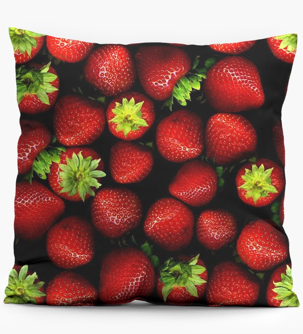 Strawberries pillow Miniature 1