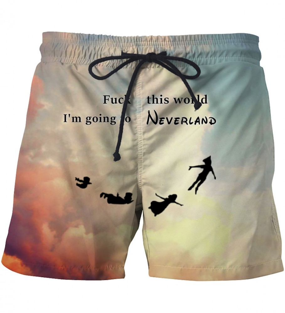 Mr. Gugu & Miss Go, I'm going to neverland swim shorts Image $i