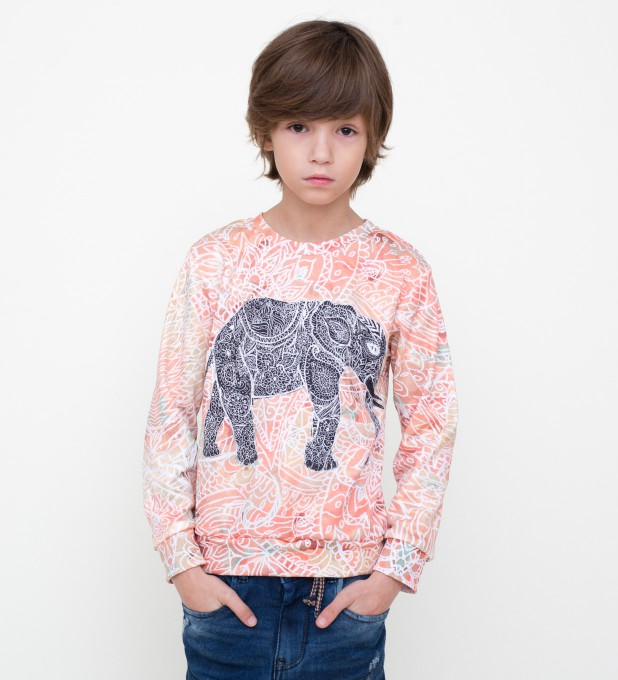 Indian elephant sweater for kids Miniature 1