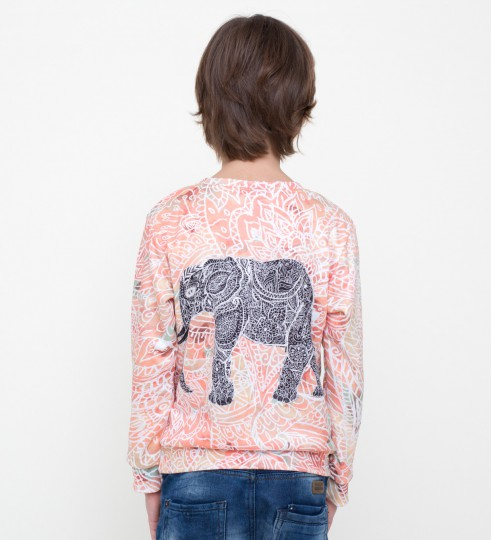 Indian elephant sweater for kids Miniature 2