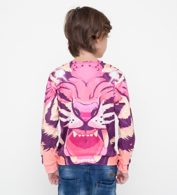Comic tiger sweater for kids Miniature 2