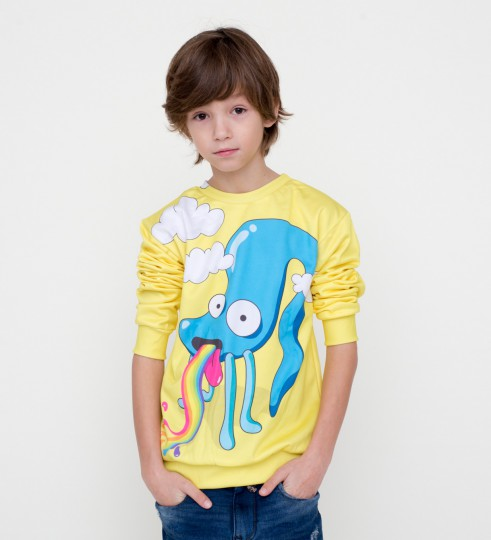 Rainbow monster sweater for kids Miniature 1