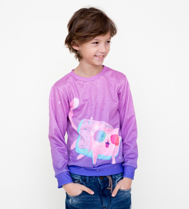 Flying cat sweater for kids Miniature 1