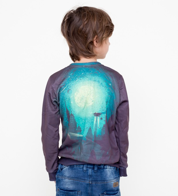 Futuristic city sweater for kids Miniature 2