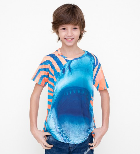 Orange Shark t-shirt for kids Thumbnail 1