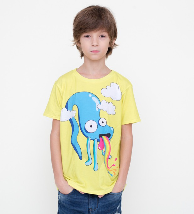 Rainbow monster t-shirt for kids Thumbnail 1