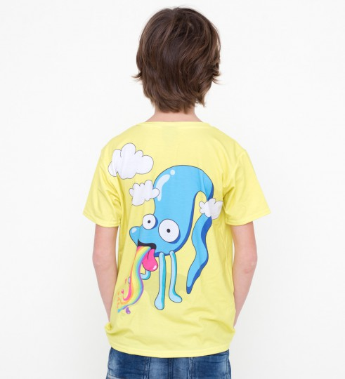 Rainbow monster t-shirt for kids Thumbnail 2