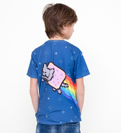 Nyan t-shirt for kids Thumbnail 2