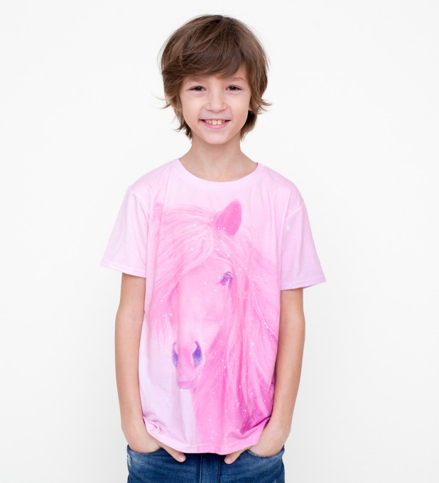 Pink horse t-shirt for kids Thumbnail 1