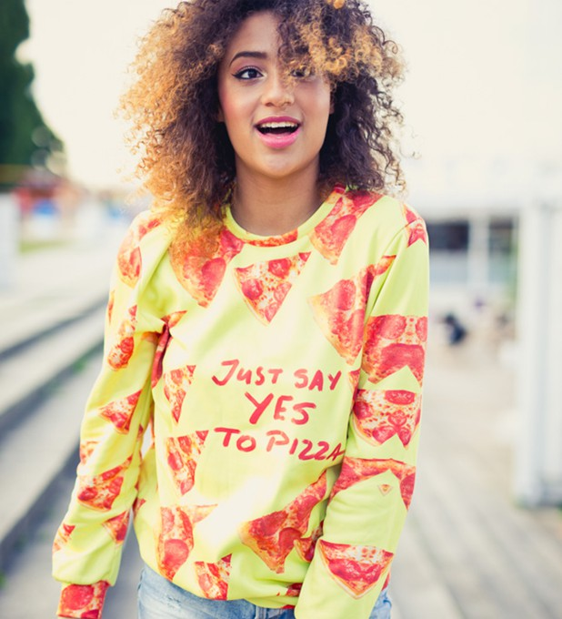 Yes to pizza sweater Miniature 2