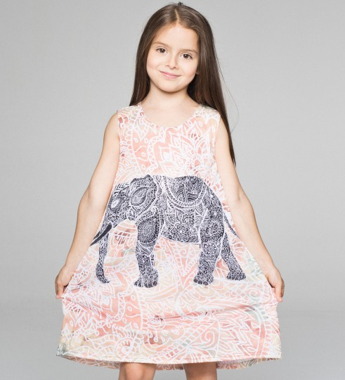 Indian Elephant robe pour enfants Miniature 1