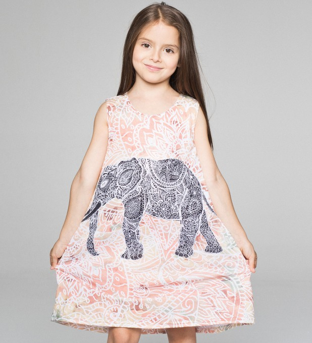 Indian Elephant summer dress for kids Thumbnail 1