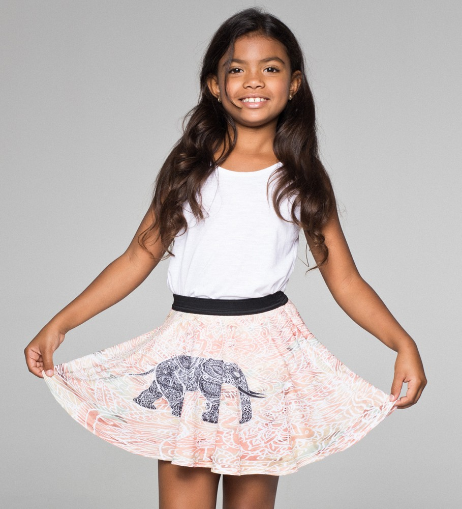 59757aa00a Indian Elephant circle skirt for kids | Mr. Gugu & Miss Go