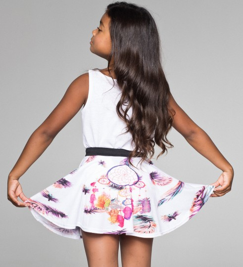 FEATHERS DREAMCATCHER circle skirt for kids Thumbnail 2