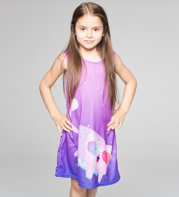 Flying Cat summer dress for kids Thumbnail 1