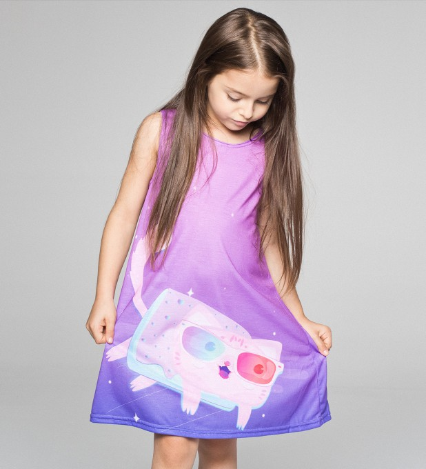 Flying Cat summer dress for kids Thumbnail 2
