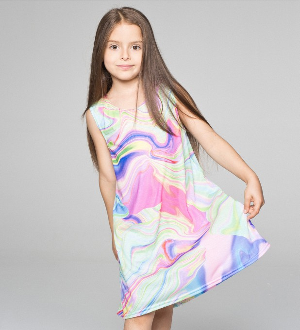Randomly Blurred summer dress for kids Thumbnail 1