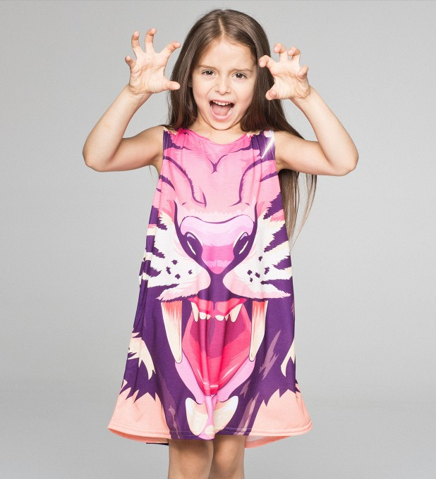 Comic Tiger summer dress for kids Thumbnail 1
