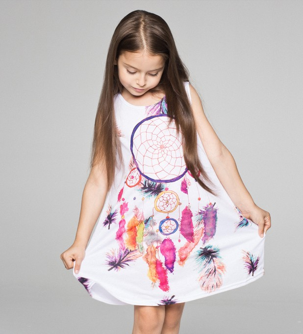 Feathers Dreamcatcher summer dress for kids Thumbnail 1