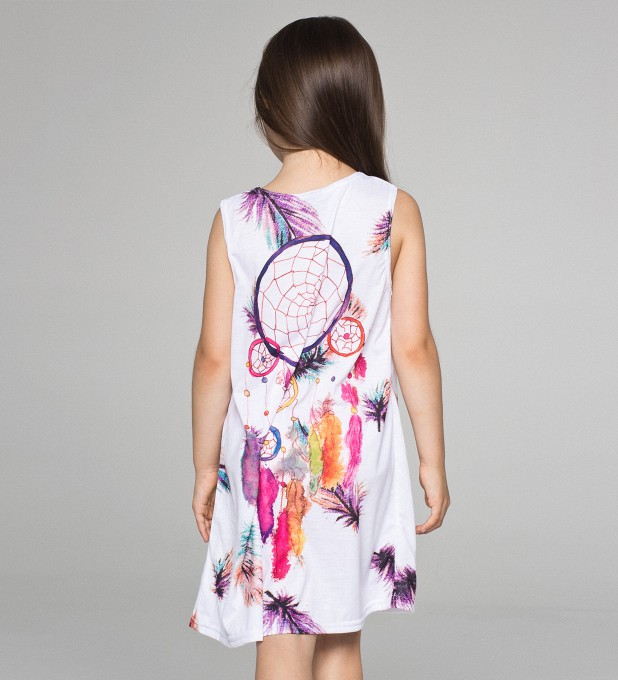 Feathers Dreamcatcher summer dress for kids Thumbnail 2