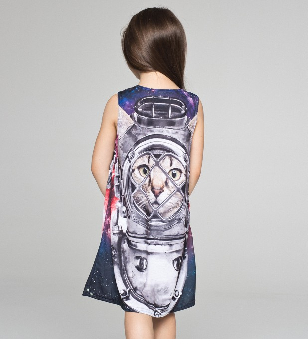 Astronaut Cat summer dress for kids аватар 2