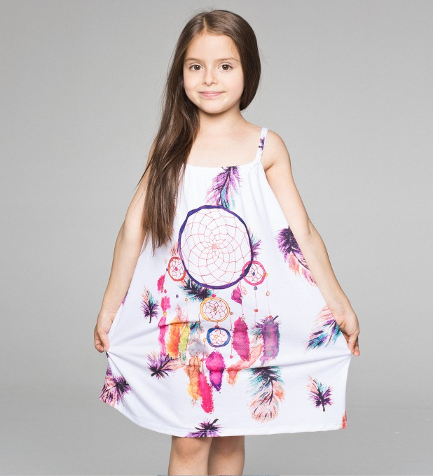FEATHERS DREAMCATCHER sleeveless dress for kids Thumbnail 1