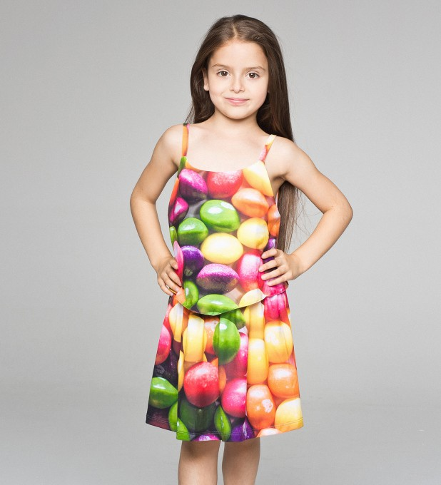 Sweets layered dress for kids Thumbnail 1