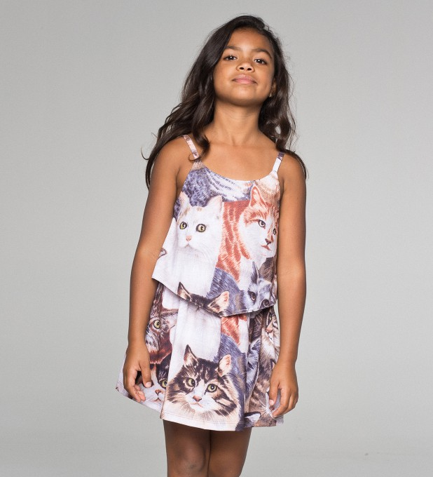 Cats layered dress for kids аватар 1