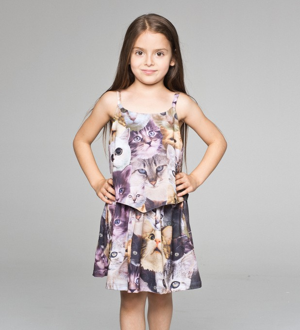 Catz layered dress for kids Thumbnail 1