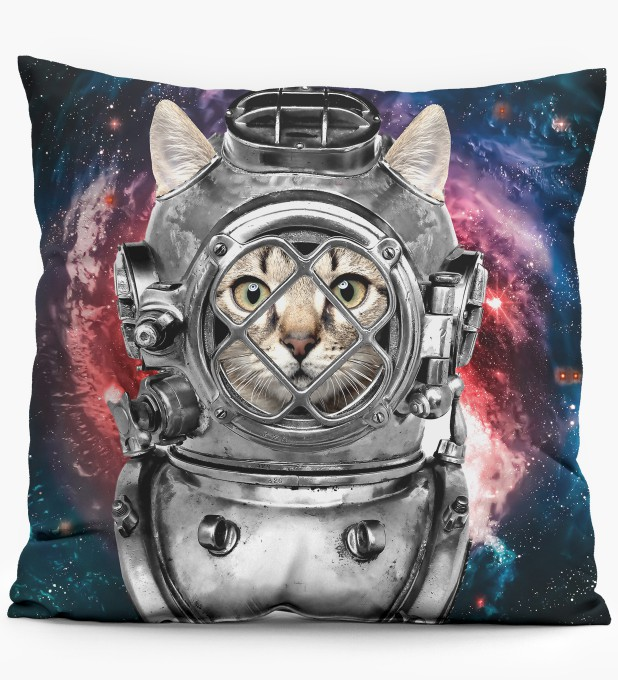 Astronaut Cat pillow Miniature 1