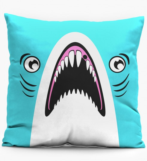 Blue Shark pillow Miniature 1