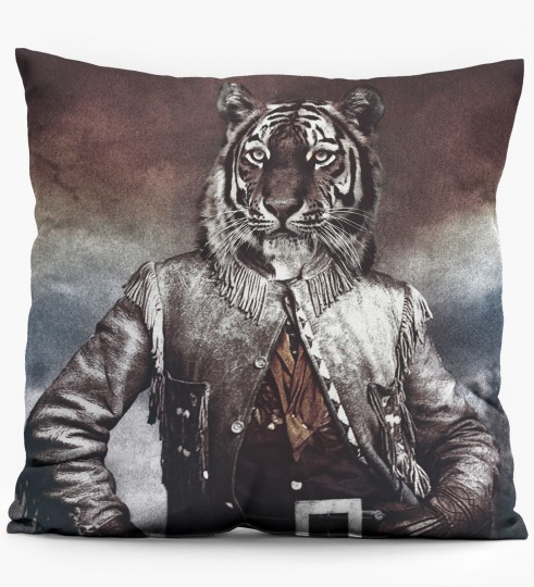 Colonel Tiger pillow Miniature 1