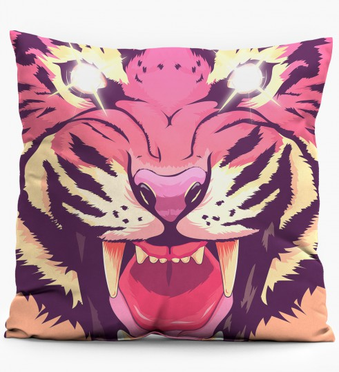 Comic Tiger pillow Miniature 1