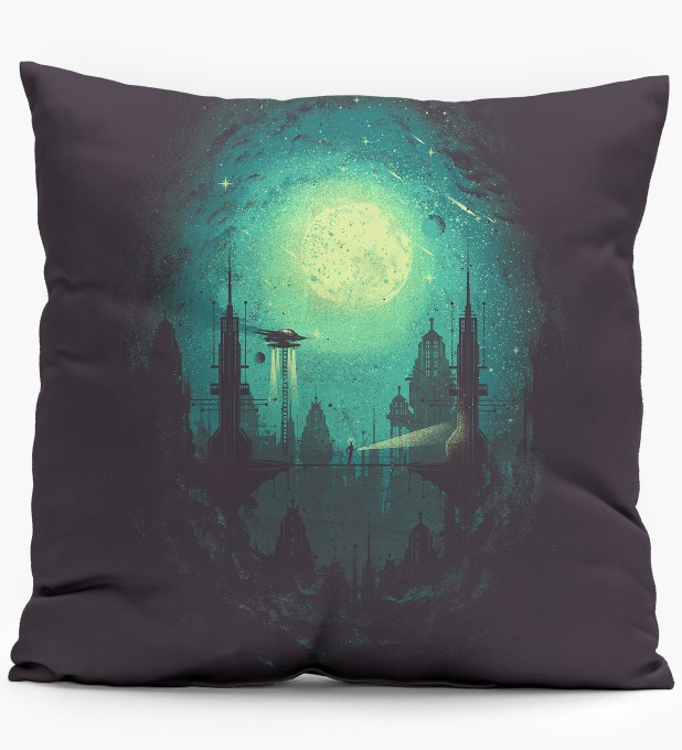 Futuristic City pillow Miniature 1