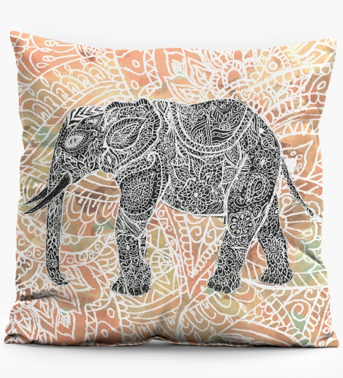 Indian Elephant pillow Miniature 1